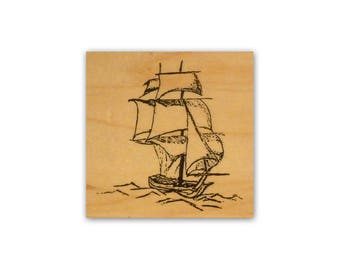 Ship mounted rubber stamp ocean, nautical, sailing, inspirational image, Crazy Mountain Stamps #2
