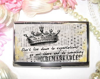 Business Card Holder, Card Holder, Business Card Case, Stainless Steel, Card Case,  Credit Card Case, Dream, Remarkable.