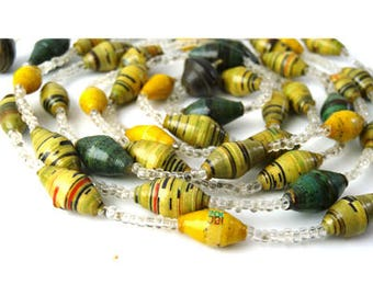 Design Necklace, Green, Yellow, Purple, Bead, One of a Kind, Summer Jewelry,  Jewelry Necklace, Gift for Her, Simple Necklace, Eco Jewelry