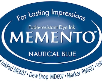 New Memento Full Size Ink Pad - NAUTICAL BLUE - Fade Resistant Dye Ink by Tsukineko