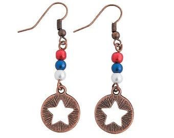 Vintage Patriotic Earrings