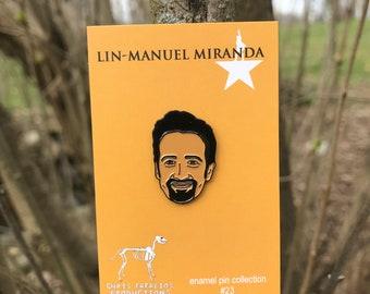 Lin-Manuel Miranda head enamel pin
