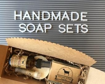Goat Milk Soap Gift Set, Handmade Soap, Organic Rosewater