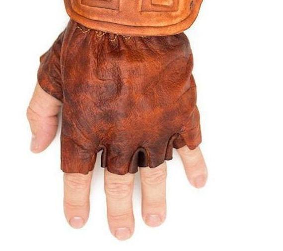 Legend of Zelda Cosplay Link Leather Gloves Twilight Princess Medieval T28Dq