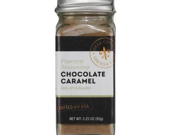 Chocolate Caramel Popcorn Seasoning for Chocolate Popcorn – Great Popcorn Lover Gift !