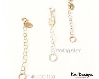 Extender Chain for your Necklace in Gold, Rose Gold and Sterling Silver, 1-4 inches