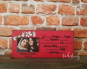 """The notebook quote. You every reason,every hope and every dream..."""". Custom made block. Anniversary, Valentines day. Custom made"""