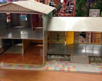 Vintage Toy Tin Doll House