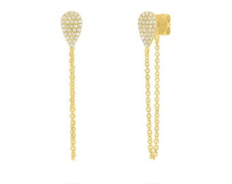 14k Gold Diamond Threader Earrings 150-426