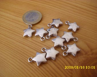 """set of 15 faux metal charms """"Star"""""""