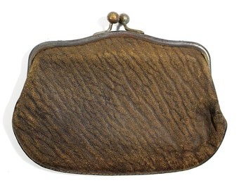 Vintage Genuine Leather Coin Purse