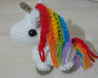 Rainbow Unicorn Amigurumi, Unicorn Crochet, Plush Unicorn Toy, Unicorn Animal, Unicorn Gift, Stuffed Animal, Plush Toys, Magical Creatures