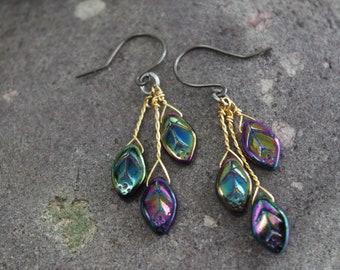 Purple Enchanted Forest Earrings