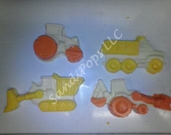 Construction themed cake toppers- 4 vehicles only