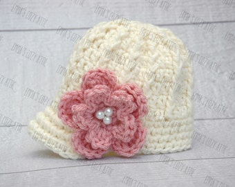 Baby girl hat, baby girl newsboy hat, newborn girl hat, baby girl clothes, newborn girl photo prop, baby girl coming home outfit