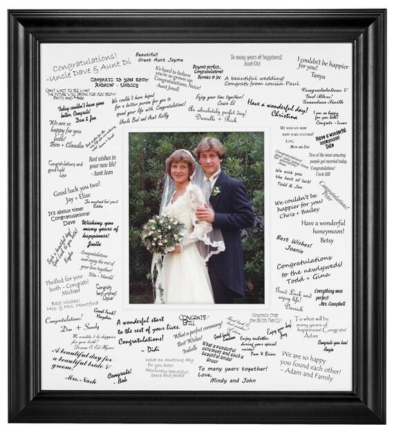 Estera de firma de boda set para foto 11 x 14