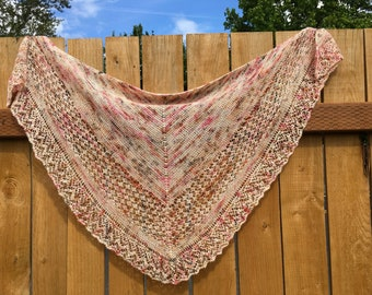 Sweet Speckled Lace Shawl