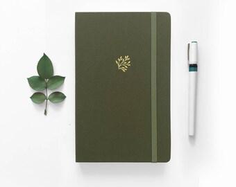 Bullet Journal  |  Dot Grid notebook  |  Bujo -  Green Leaf  |  Goal Planner  |  Dot Grid A5  |  Bullet Journal Plan