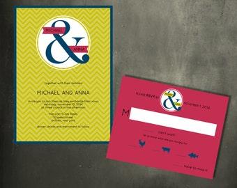 Modern Ampersand Invitation - New This Season