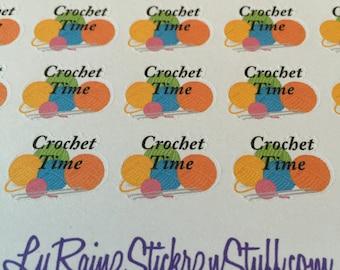 Crochet Time Stickers for Passion Planner, Erin Condren, Happy Planner, Kikkik, Bujo, Filofax...etc