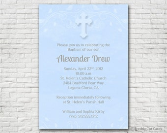 Regal First Communion Or Baptism Invitation Printable Or