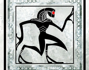 Geth Glyph - 8x8 Mass Effect inspired Illustration