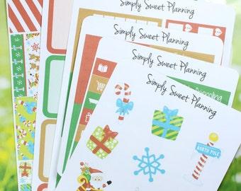 Christmas Planner Sticker Kit - Happy Planner - Erin Condren - Plum Planner - Functional Stickers - Weekly Planner - Matte
