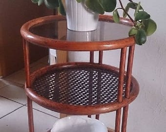 Vintage side Table Trolley Vintage Trolley | 60s Glass