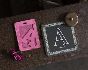 Alphabet Card Holder Luggage Tag Version A-N DIY Kit