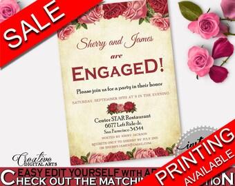 Engagement Invitation Bridal Shower Engagement Invitation Vintage Bridal Shower Engagement Invitation Bridal Shower Vintage Engagement XBJK2