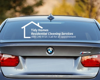 House Keeping Decal, Cleaning Services Decal, Maid Service Decal, House Cleaning Decal, Business Car Decal, Car Decal, Business Decal, Promo