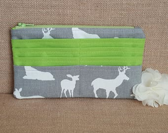 Women's Wallet / Deer Wallet / Fabric Wallet / Long Wallet