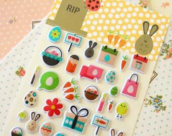 Rip Rabbit cartoon puffy stickers