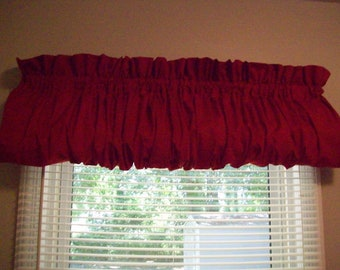 "Red Valance 84"" Wide x 15"" Long"