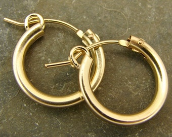 Gold Filled Hoops - 18mm - One Pair - gfh18