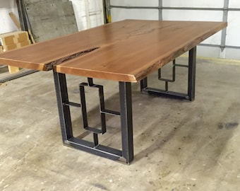 Dining table legs etsy square rectangular modern dining table legs watchthetrailerfo