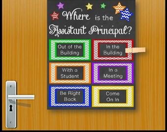 Assistant Principal Gift Idea, Office Door Sign, Back to School Office Decoration, Principal Appreciation Gift Idea