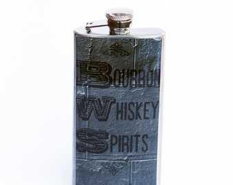 BOURBON FLASK - Flask, 5oz. Flask, NY Flask