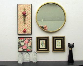 Wall art collage - Dearest Friend- wall art gallery - 5 pieces - Mirror wall art