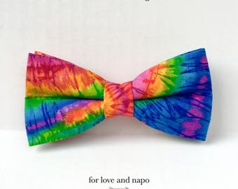tie dye – dog or cat colorful bow tie
