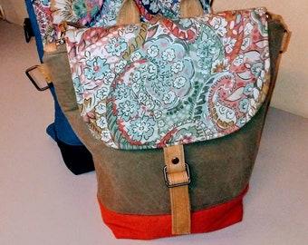Backpack-Convertible Backpack-Minimalist Backpack-laptop bag-Messenger Bag