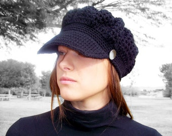 Crochet PATTERN, Crochet Newsboy Hat Pattern, Crochet Womens Hat Pattern, Crochet Hat Pattern, Crochet Newsboy Cap Pattern, Easy Crochet