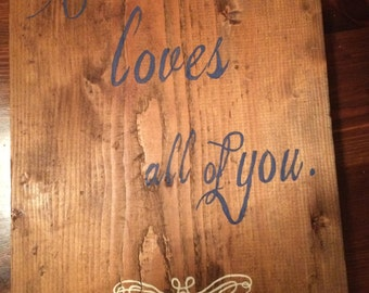 Hand painted, wooden custom designed sign