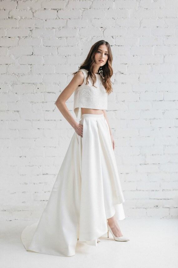 Exceptionnel Bridal Crop Top Wedding Top Bridal Separates Bridal Lace ZO96