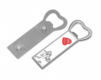 Parson Russell terrier- Metal bottle opener with a magnet for the fridge with the image of a dog. Collection