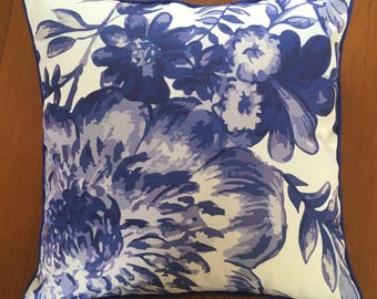Blue and White floral scatter cushion