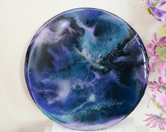 Abstract Resin Art Painting 10 inch round