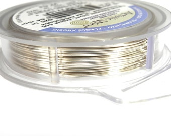 Artistic Wire Non-Tarnish Silver Plated Craft Wire 0.6mm (22Ga) - 9 metres (10 Yds)