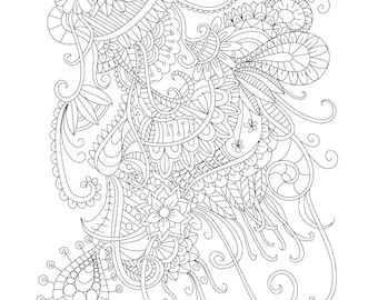 Adult Coloring Page Celebrate For Stress Relief