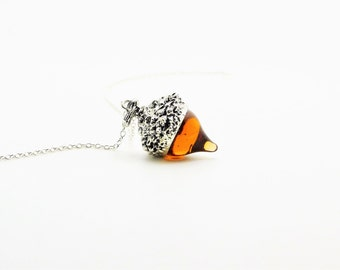 Acorn Necklace, Acorn Jewelry, Autumn Fall Jewelry, Nature, Squirrel, Acorns, Valentines Day Gift, Gifts for Her, Tree Necklace,